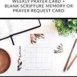 Free Printable: Weekly Prayer Card And Blank Prayer / Scripture Card   Free Printable Prayer Cards