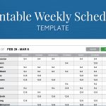 Free Printable Weekly Work Schedule Template For Employee Scheduling   Free Printable Weekly Work Schedule