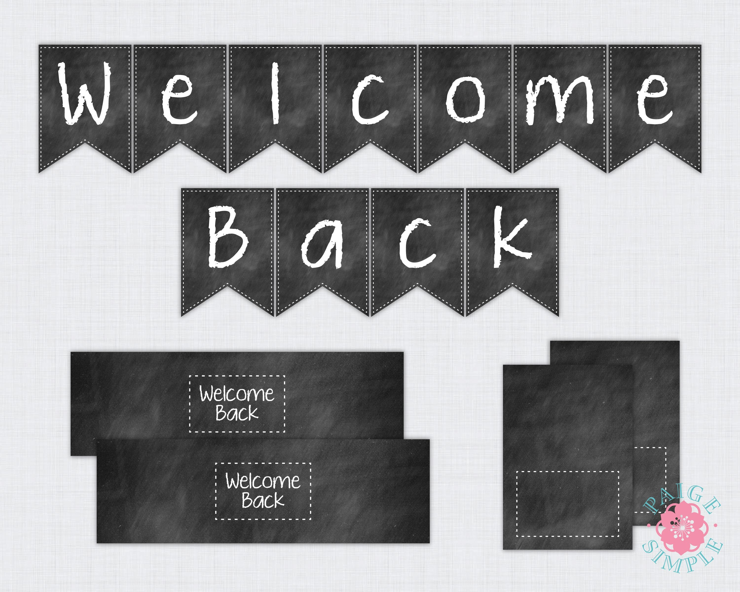 Free Printable Welcome Back To School Banner | Bulletin Boards - Welcome Back Banner Printable Free