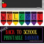 Free Printable Welcome Back To School Banner | The Quiet Grove   Free Printable Welcome Back Signs For Work