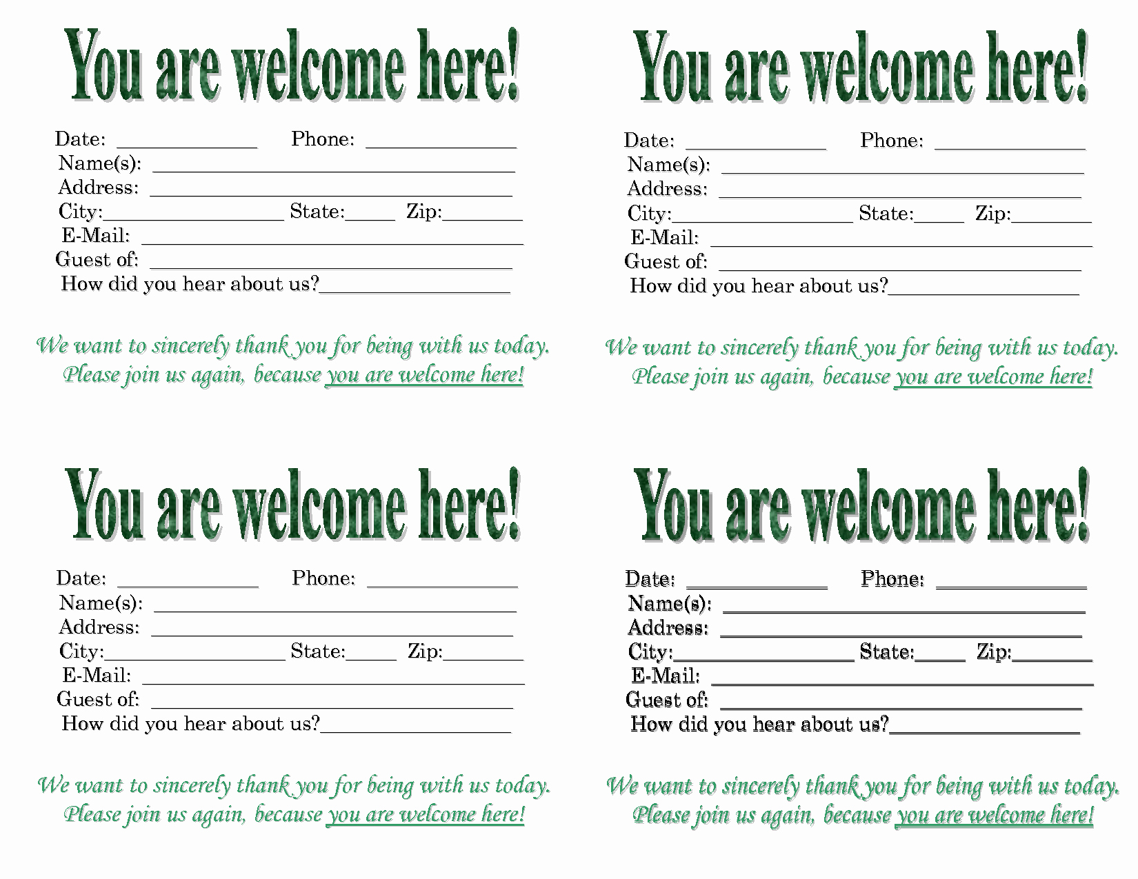 Free Printable Welcome Cards Download Example - Tduck.ca - Free Printable Welcome Cards