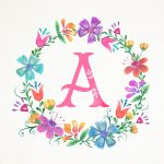 Free Printable Whimsical Watercolor Monograms | ~Monograms   Free Printable Flower Letters