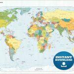 Free Printable World Map   Mir Mitino   Free Printable World Map
