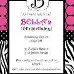 Free Printable Zebra Print Invitations Baby Shower   Emma   Free - Free Printable Animal Print Birthday Invitations