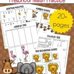 Free Printable Zoo Math Worksheets For Preschoolers   Free Printable Zoo Worksheets