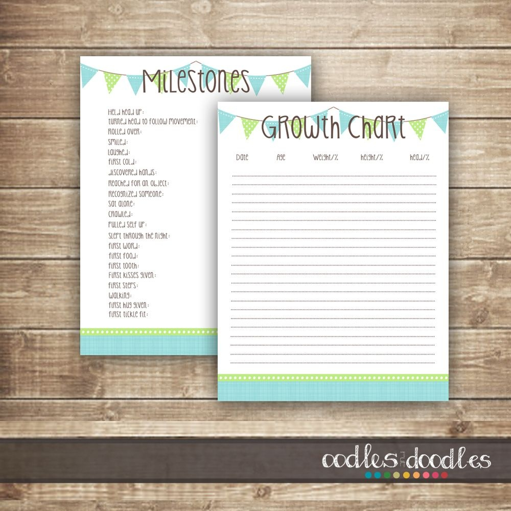 Free Printables: Baby Milestones & Growth Chart Printable Templates - Free Printable Baby Journal Pages
