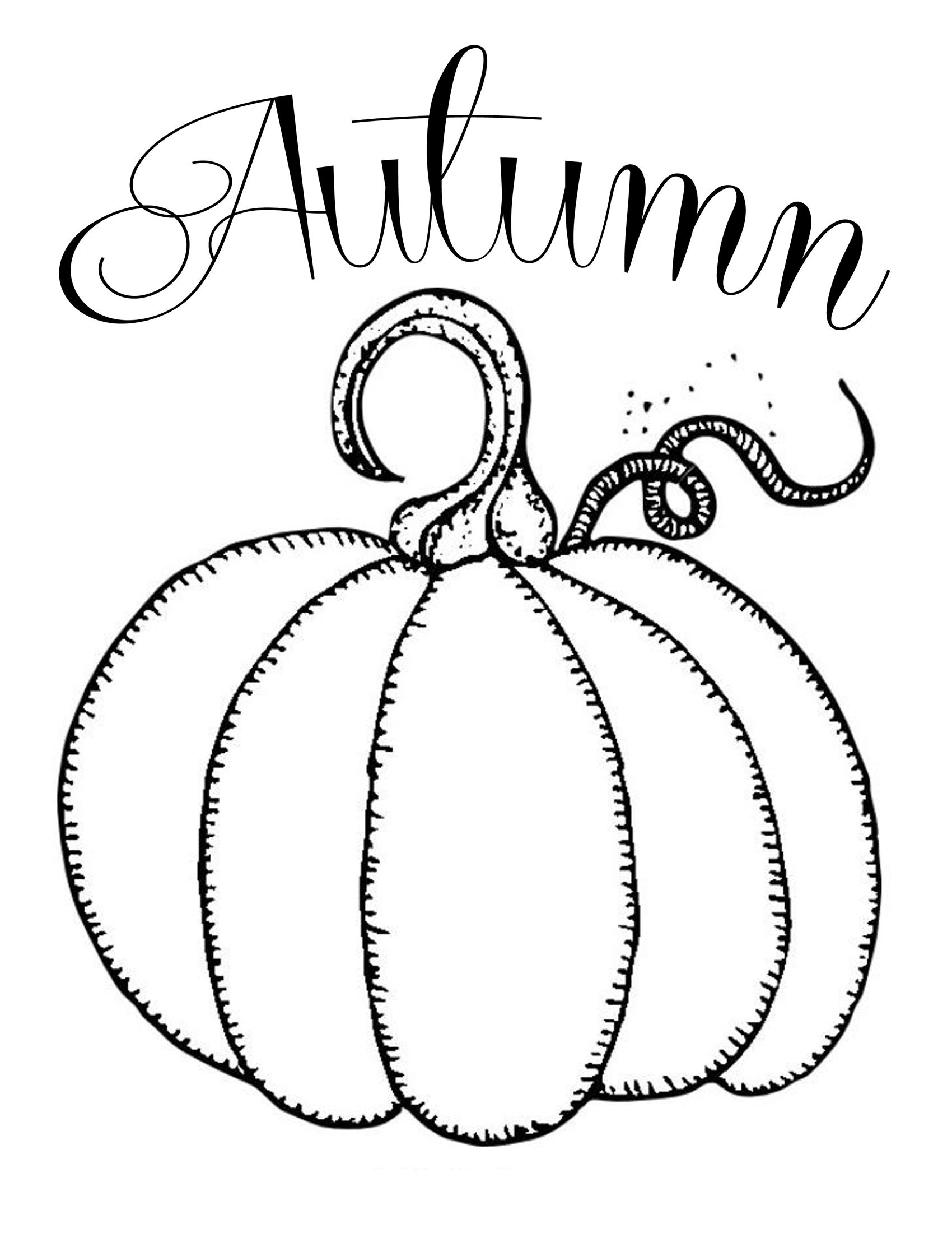 Free Printables ~ Chalkboard Autumn Pumpkin | Fonts And Printables - Free Printable Fall Coloring Pages
