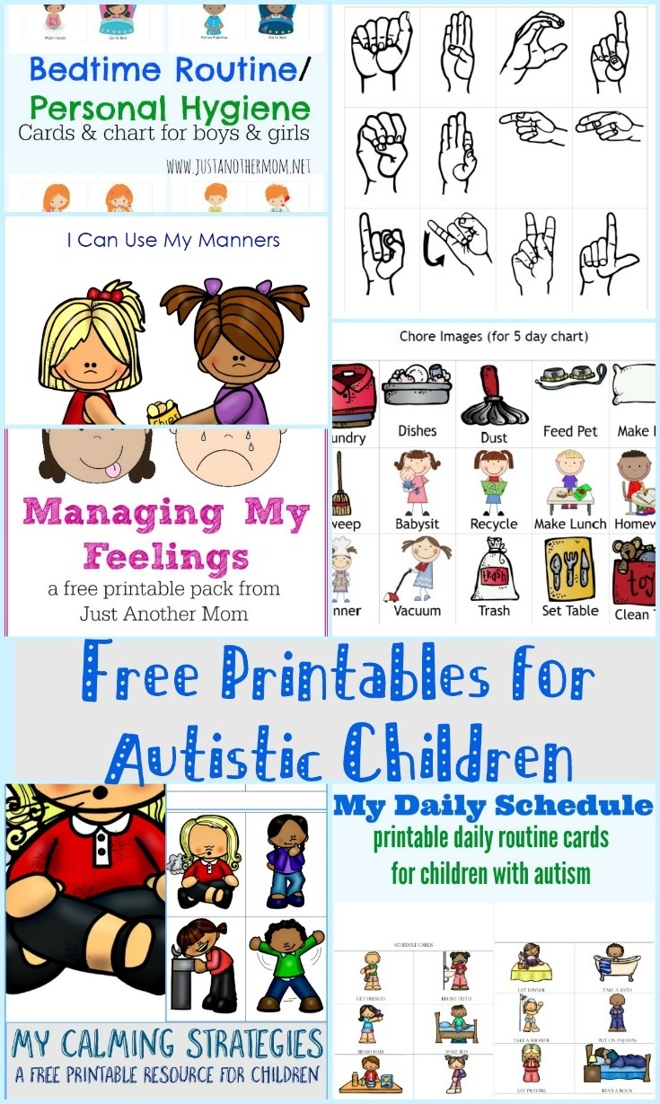 Free Printables For Autistic Children And Their Families Or Caregivers - Free Printable Picture Schedule Cards