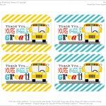 Free Printables: School Bus Driver Appreciation   Free Printable School Bus Template
