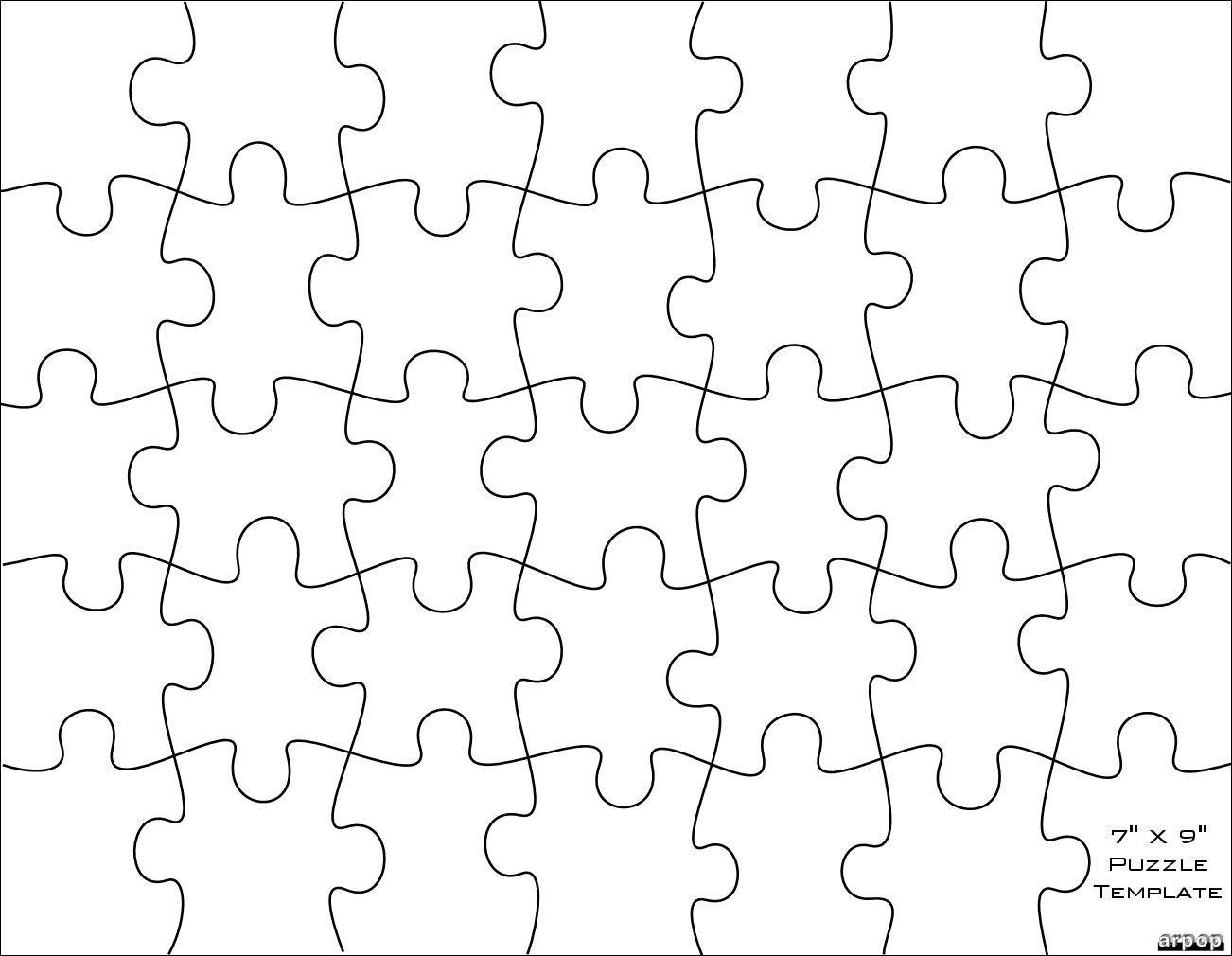 Free Puzzle Template, Download Free Clip Art, Free Clip Art On - Jigsaw Puzzle Maker Free Printable