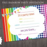Free Rainbow Party Invitation | Ruby And The Rabbit | Rainbow Party   Free Printable Birthday Invitation Templates