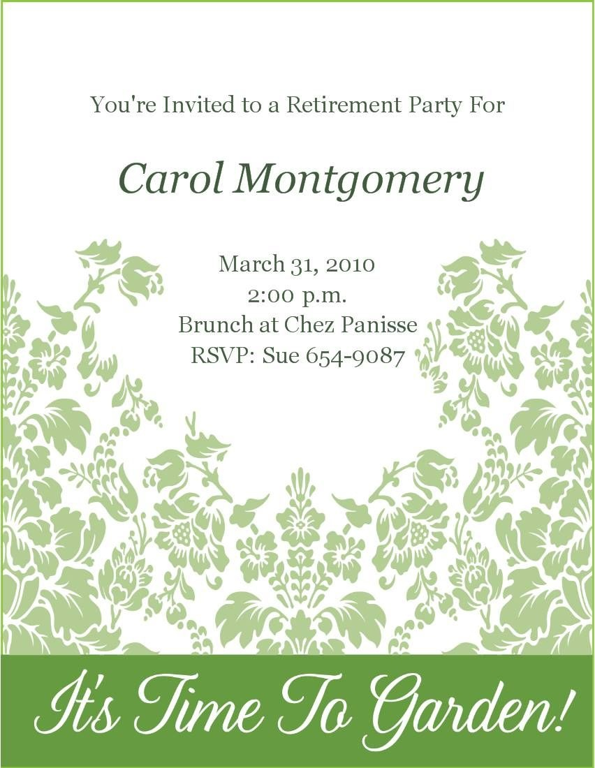 Free Retirement Party Invitations Templates Printable | Party - Free Printable Retirement Party Invitations