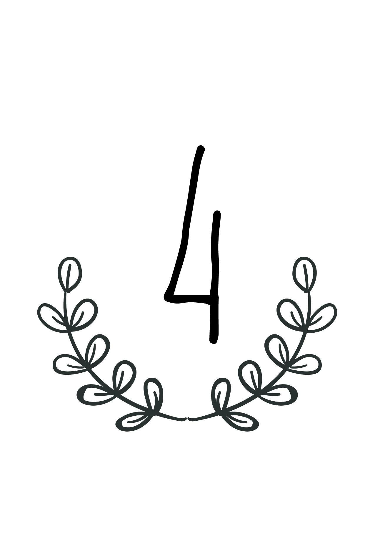 Free Rustic Wedding Table Number Printable   Future Wedding In 2019 - Free Printable Table Numbers