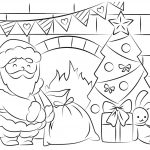 Free Santa Coloring Pages And Printables For Kids   Xmas Coloring Pages Free Printable