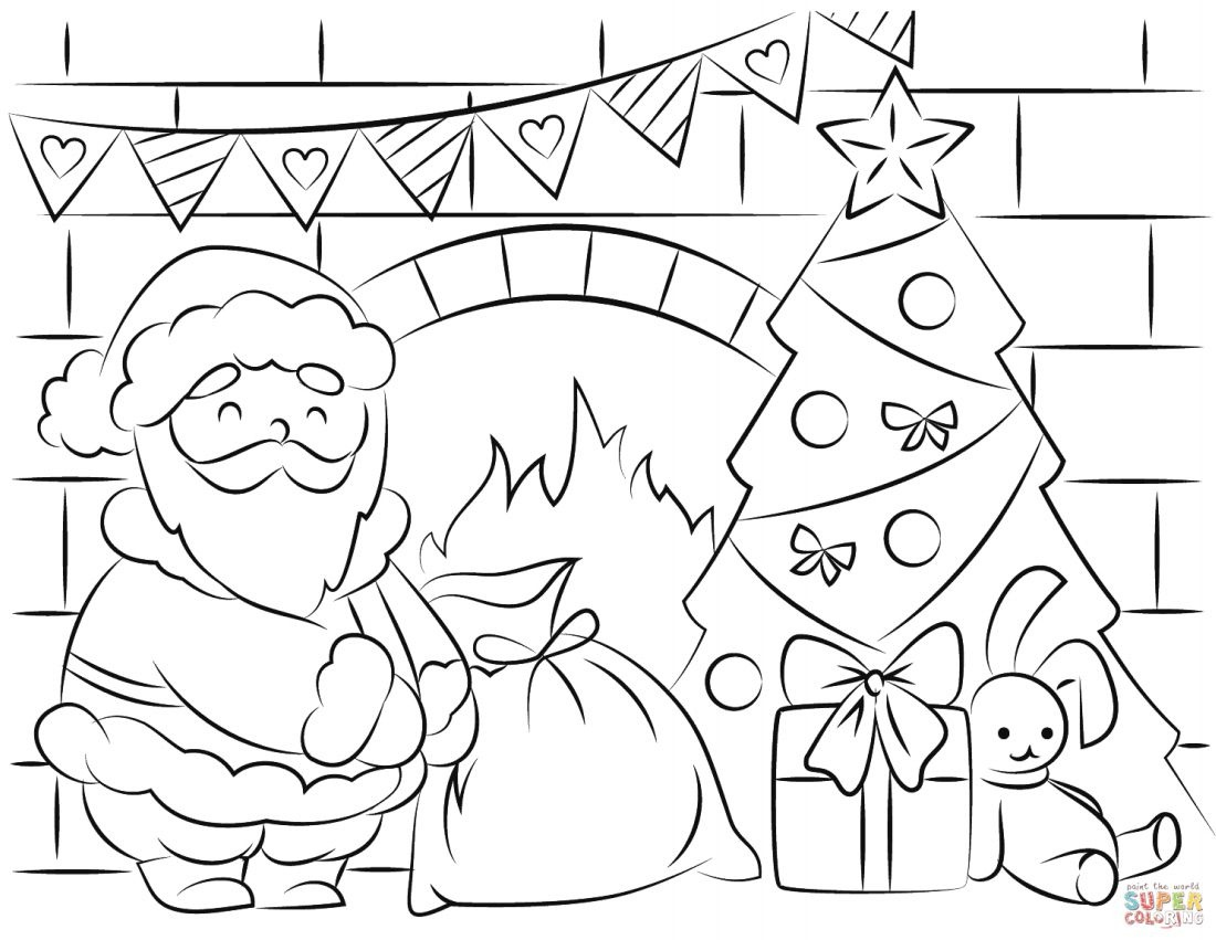 Free Santa Coloring Pages And Printables For Kids - Xmas Coloring Pages Free Printable