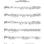 Free Sheet Music For Sax: Pink Panther   Henry Mancini Score And   Free Printable Trumpet Sheet Music Pink Panther