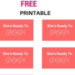 Free She's Ready To Pop! Tags, Labels, Baby Shower Tags From Www   Free Printable Ready To Pop Labels