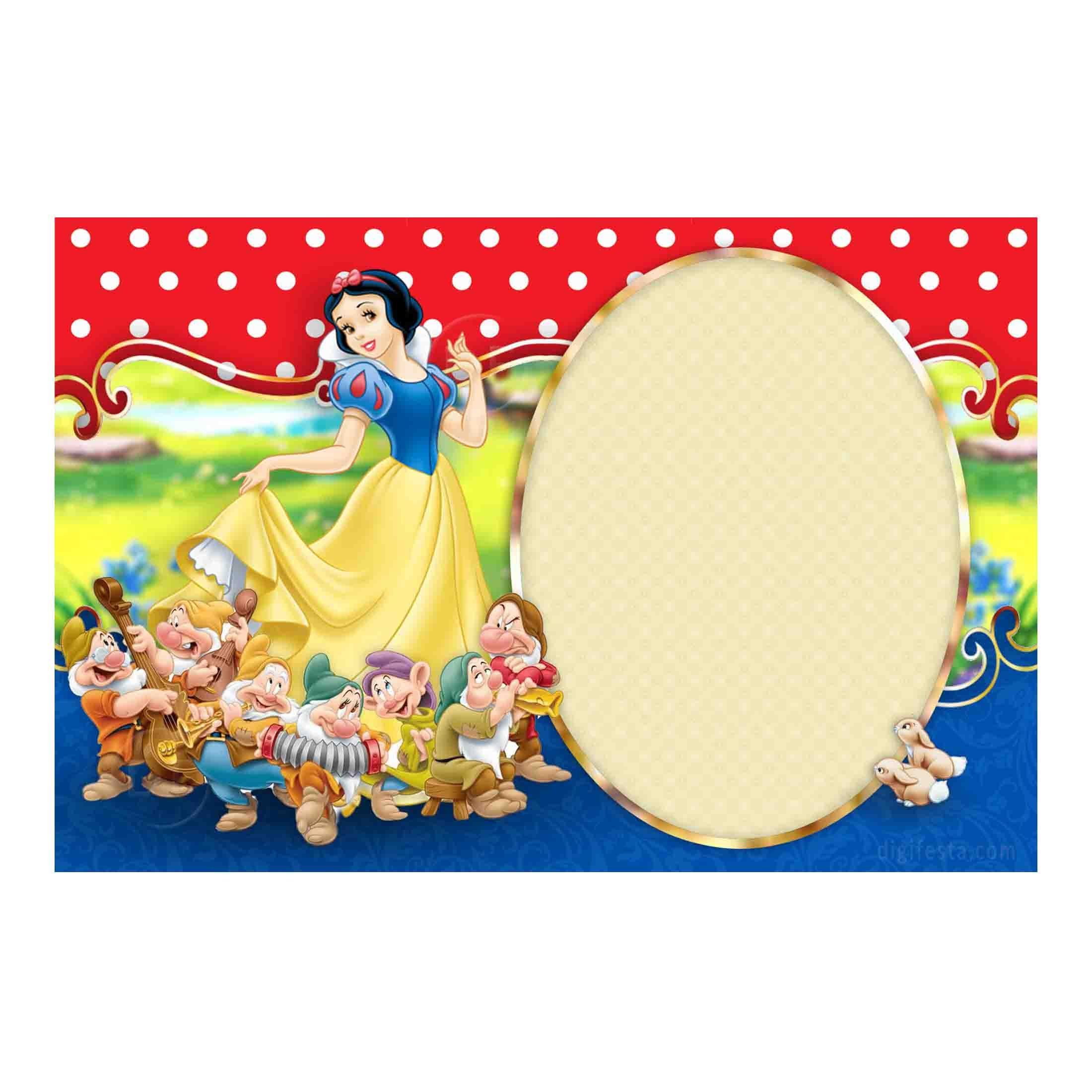Free Snow White Invitation - Personalized Birthday Printables & Ideas! - Snow White Invitations Free Printable
