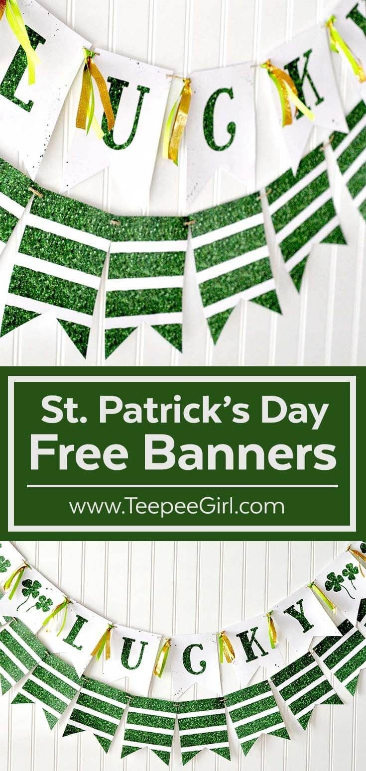 Free St. Patrick's Day Banner | Best Of Teepee Girl! | Free - Free Printable St Patrick's Day Banner