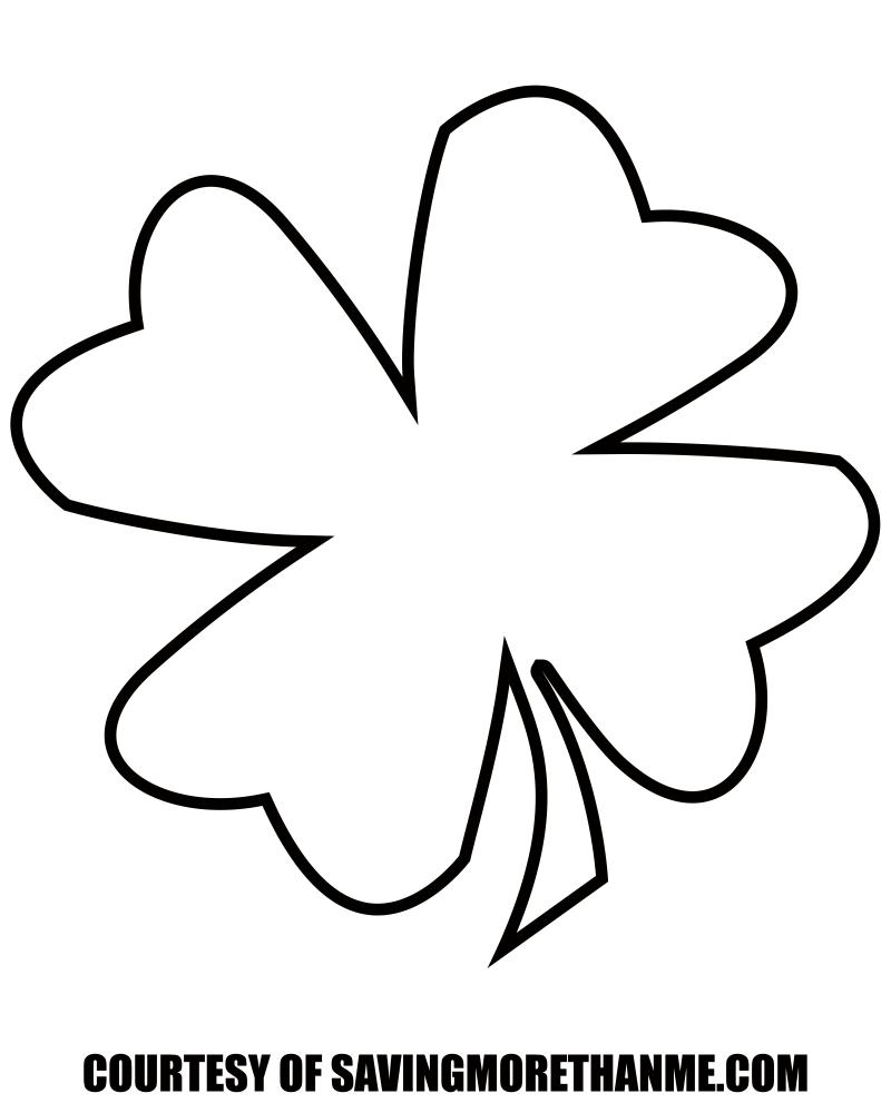 Free St. Patrick's Day Printables: Four Leaf Clover Template, Irish - Four Leaf Clover Template Printable Free