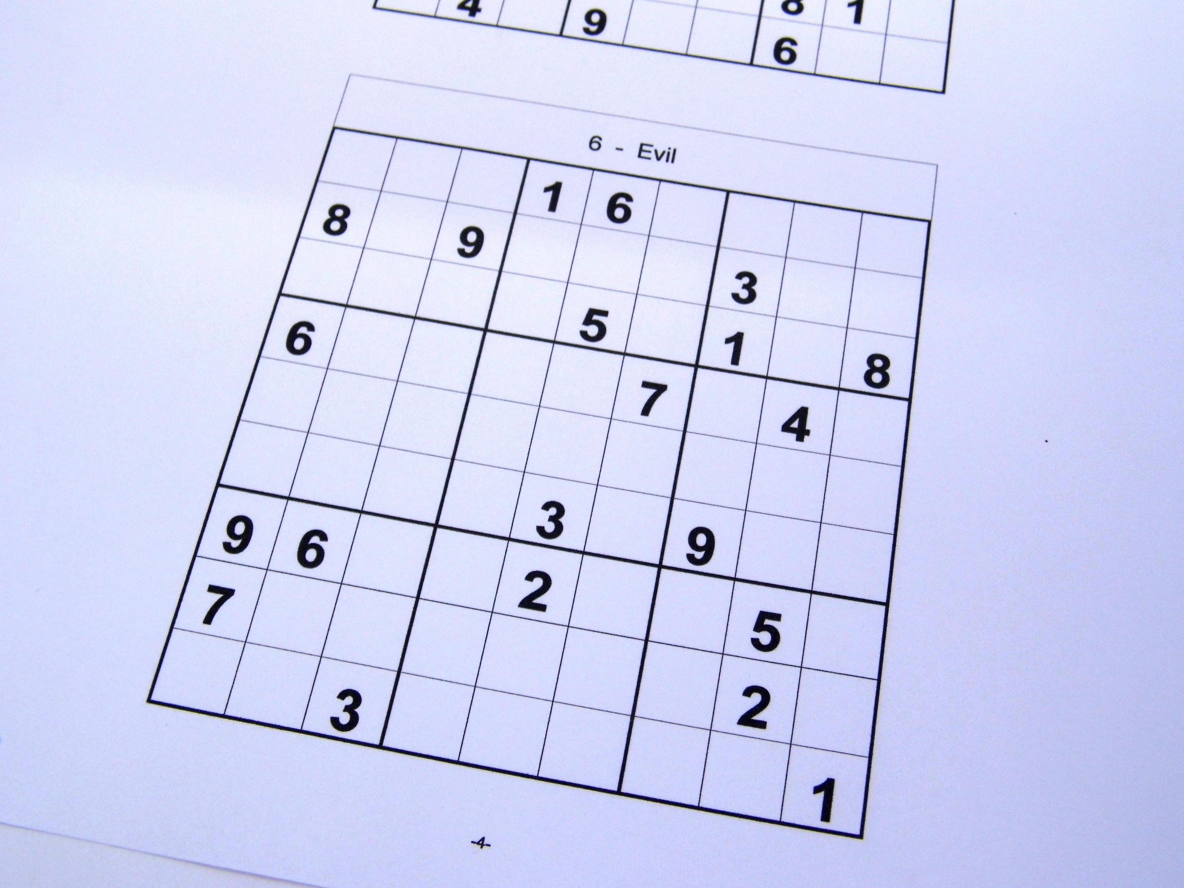 Free Sudoku Puzzles – Free Sudoku Puzzles From Easy To Evil Level - Download Printable Sudoku Puzzles Free