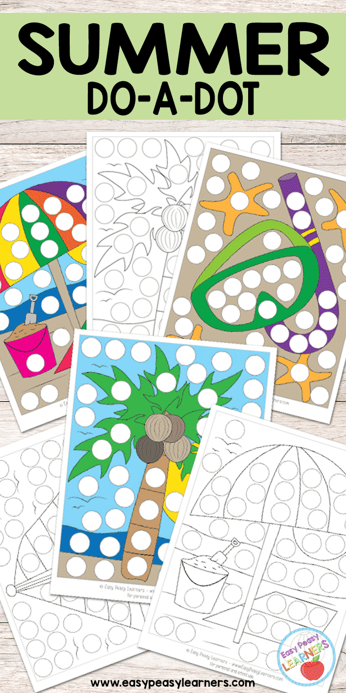 Free Summer Do A Dot Printables - Easy Peasy Learners - Do A Dot Art Pages Free Printable