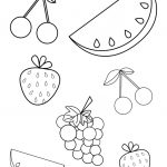 Free Summer Fruits Coloring Page Pdf For Toddlers & Preschoolers   Free Printable Pages For Preschoolers