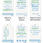 Free Teacher Appreciation Printables | Signup   Free Printable Tags For Teacher Appreciation