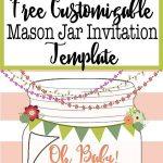 Free Template For A Mason Jar Invitation   Perfect For A Southern Or   Free Mason Jar Wedding Invitation Printable Templates