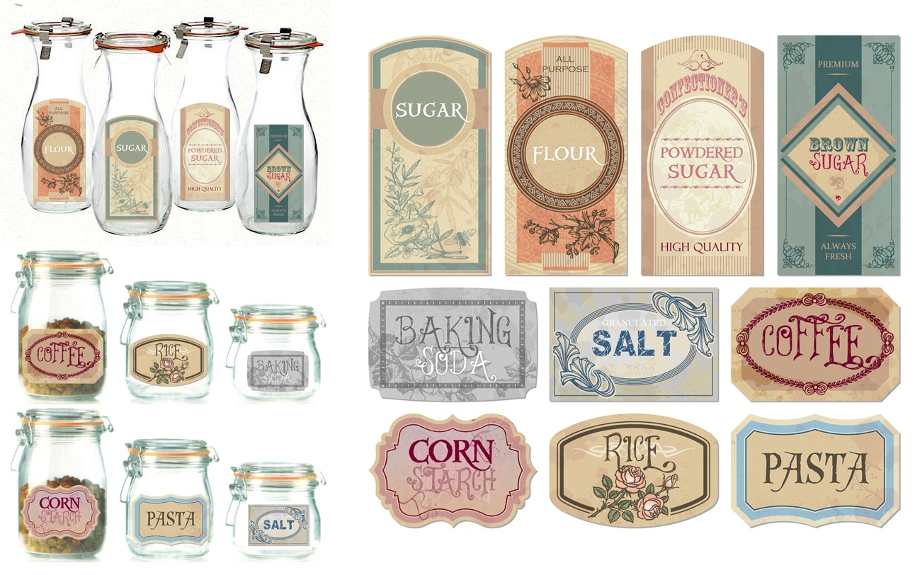 Free The Diva: Freebies - Free Printable Vintage Labels