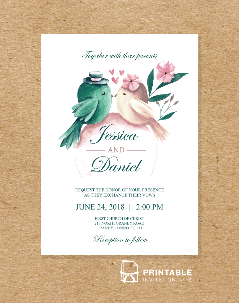 Free To Download And Print Pdf Wedding Invitation - Printable - Free Printable Wedding Invitation Kits