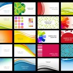 Free Vector Variety Of Dynamic Flow Line Of Business Card Templates   Free Printable Business Card Templates Pdf