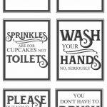 Free Vintage Bathroom Printables | Farmhouse | Vintage Bathrooms   Free Printable Bathroom Pictures