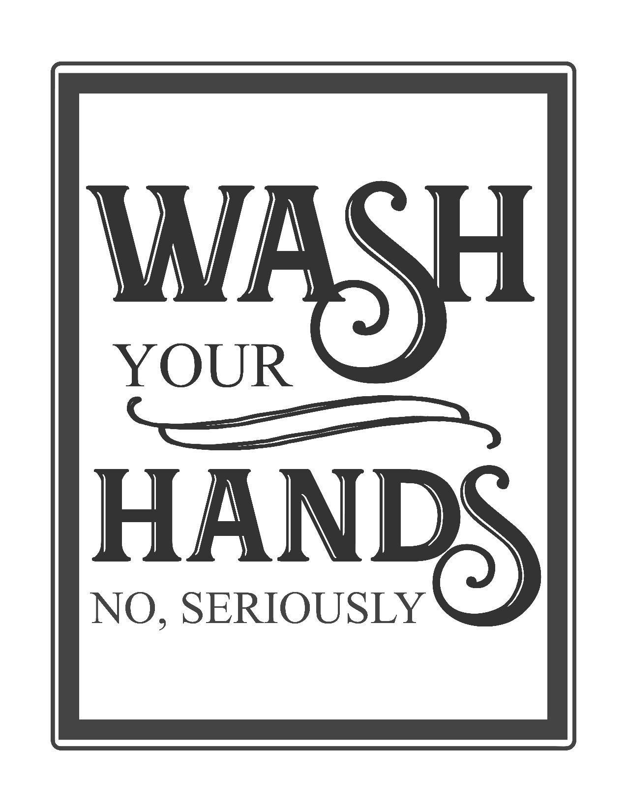 Free Vintage Bathroom Printables | Printables ** | Vintage Bathrooms - Free Printable Flush The Toilet Signs