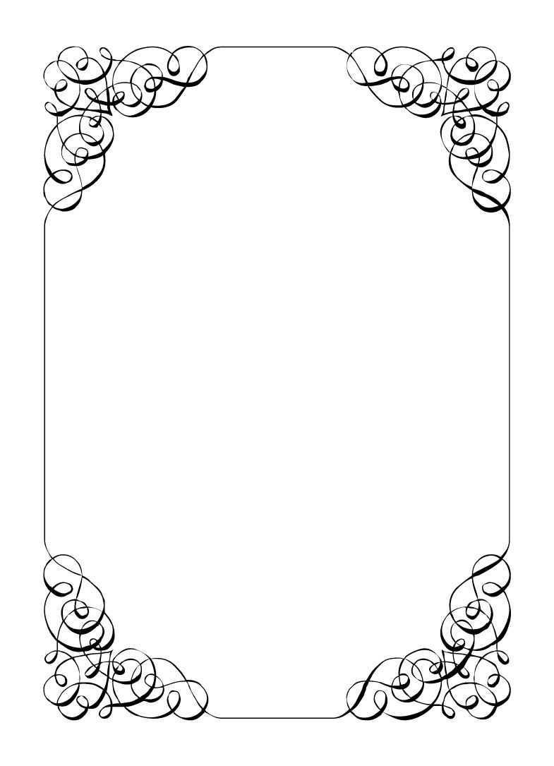 Free Vintage Borders Clip Art | Paper Vintage Calligraphic Frame - Free Printable Wedding Clipart Borders