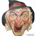 Free Vintage Witch Cut Out Printable Mask #free #printable   Free Printable Halloween Face Masks