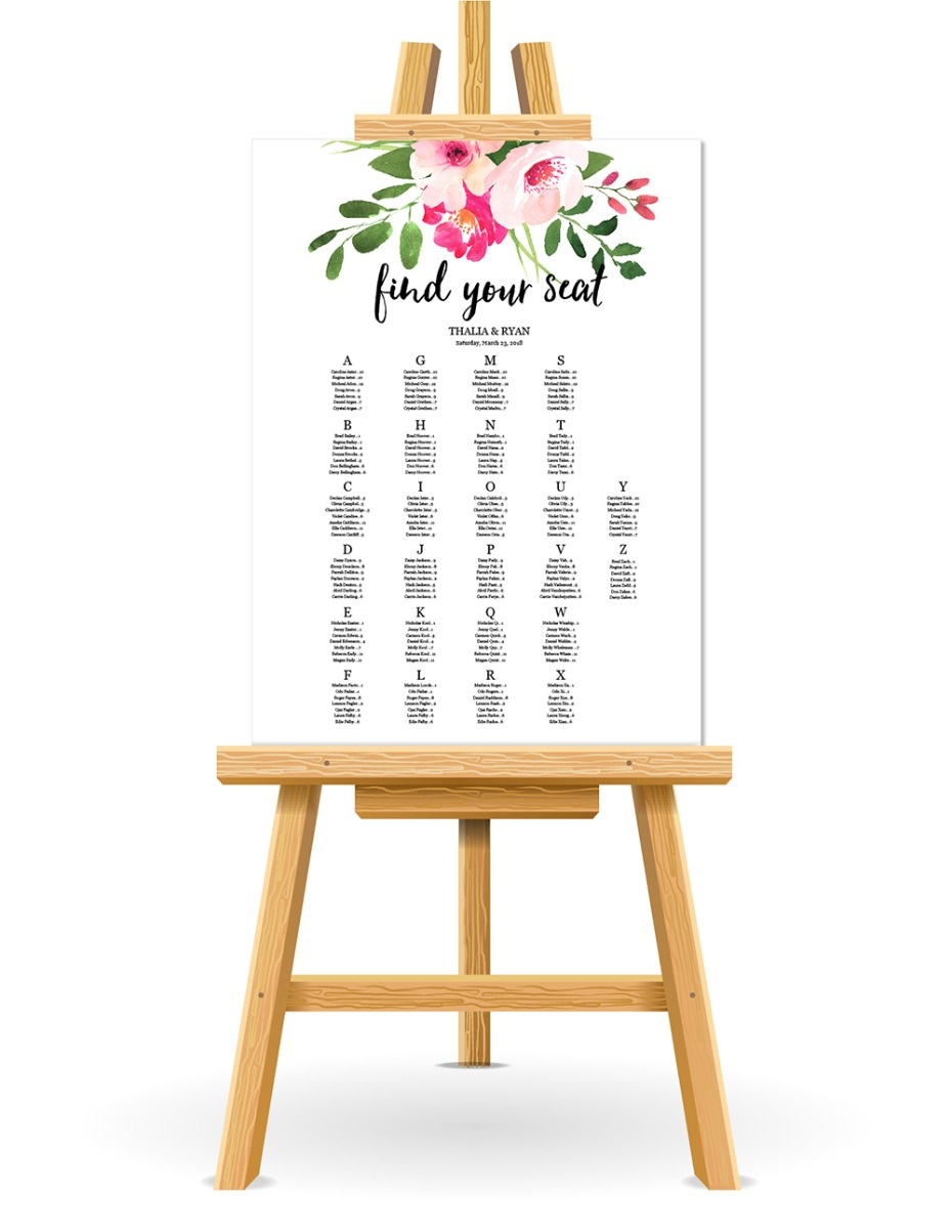 Free Wedding Seating Chart Printable - Free Printable Wedding Seating Chart Template