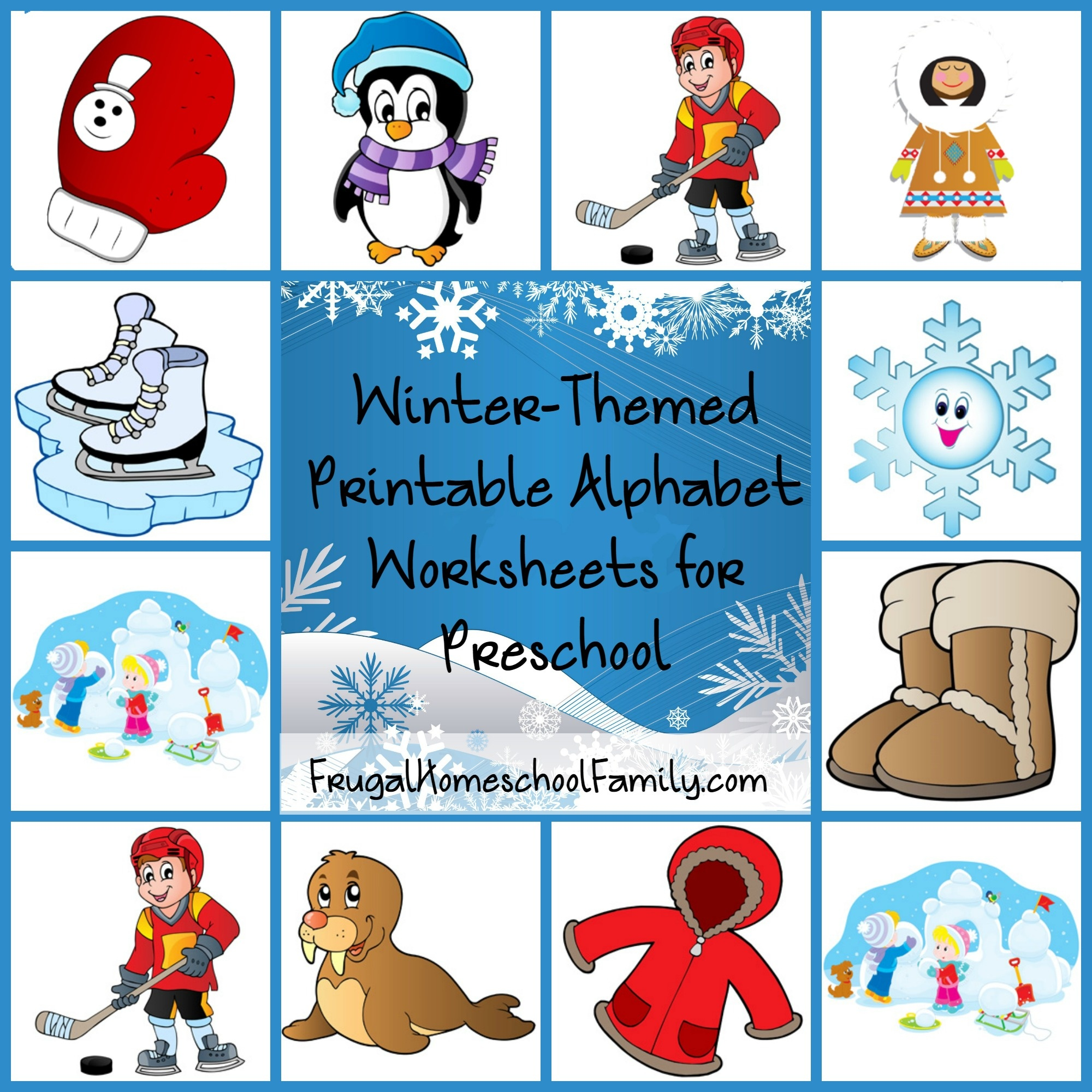 Free Winter-Themed Printable Alphabet Worksheets For Preschool - Free Printable Winter Preschool Worksheets