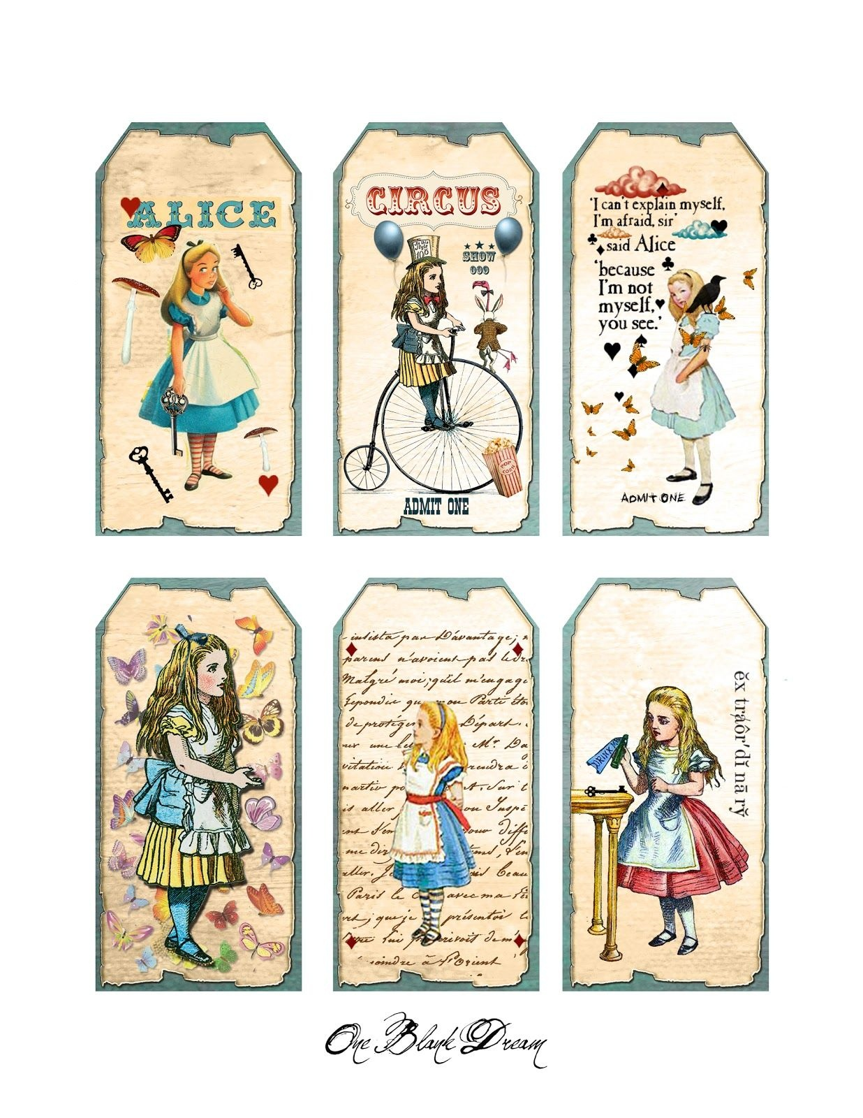 Free Wonderland Printables | Free Alice In Wonderland Tags Digital - Alice In Wonderland Signs Free Printable