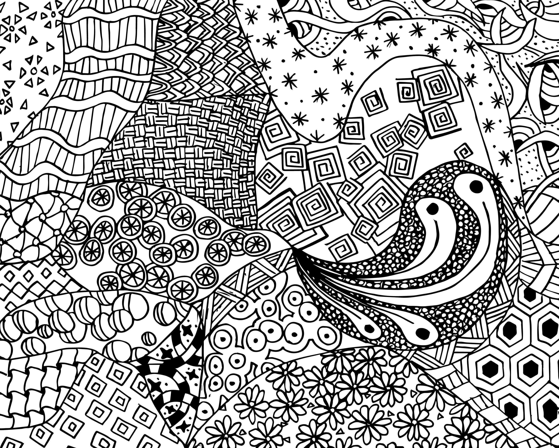 Free Zen Doodle Design Adult Coloring Page | Free Printable Coloring - Free Printable Doodle Patterns