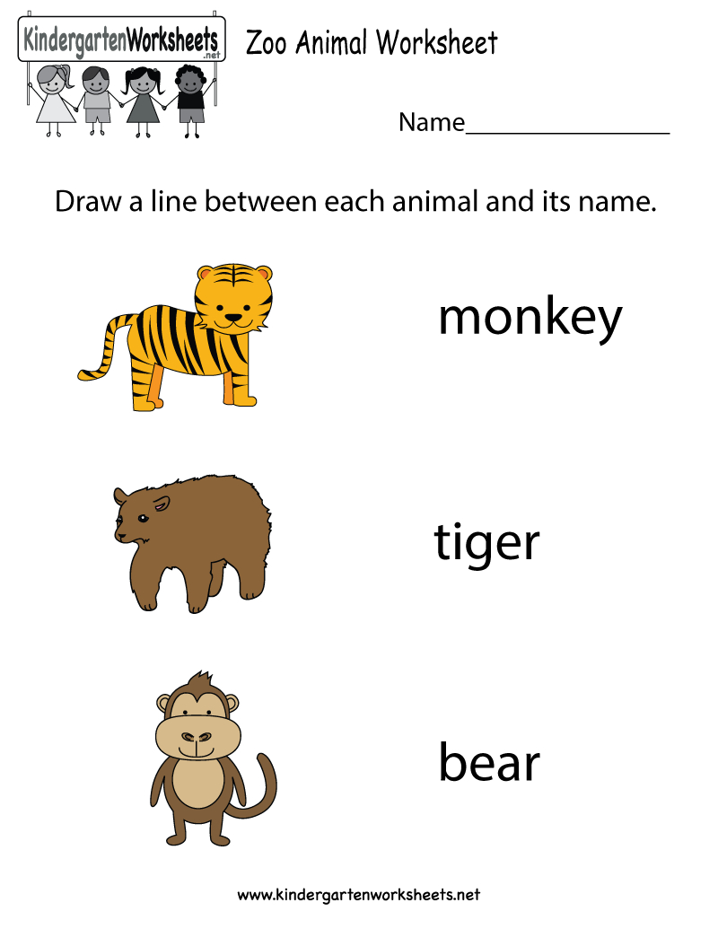 Free Zoo Animal Worksheet For Kindergarteners. This Would Be A Great - Free Printable Zoo Worksheets