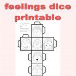 Freebie Feeling Dice Printable. Freebie Preschool Printables. Fun   Free Printable Childminding Resources