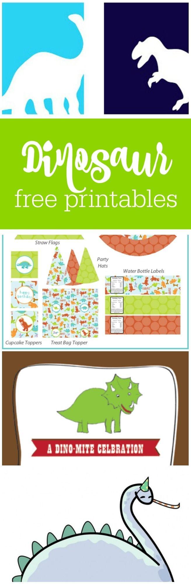 Freebie Friday: Free Dinosaur Party Printables | Baby Ninjas Bday - Free Printable Dinosaur Labels