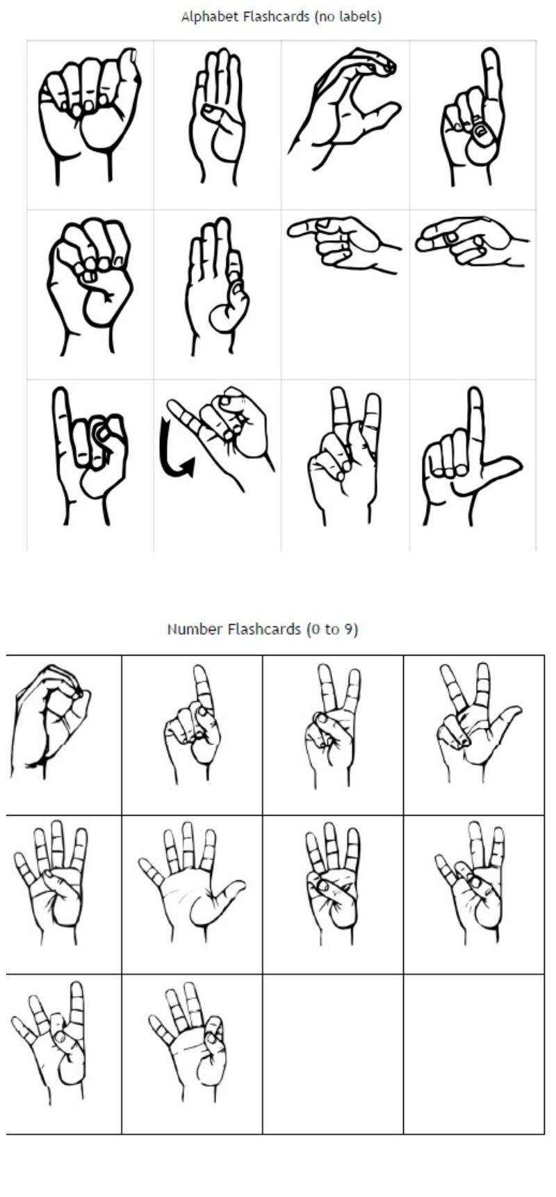 Freebie Friday: Free Printable Asl Alphabet Flashcards Pack | Best - Sign Language Flash Cards Free Printable