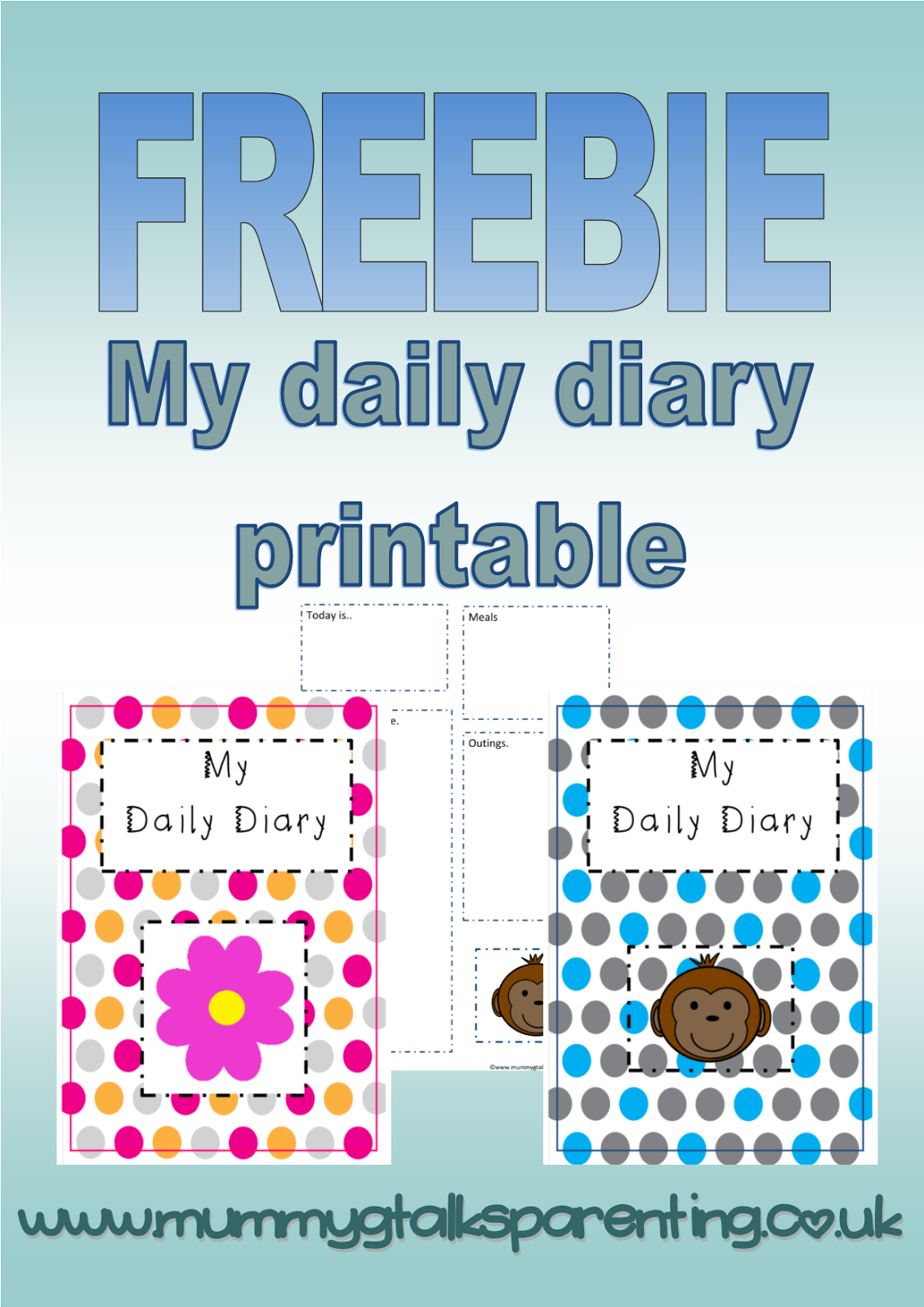 Freebie 'my Daily Diary' Printable For Childminders And Nurseries - Free Printable Childminding Resources