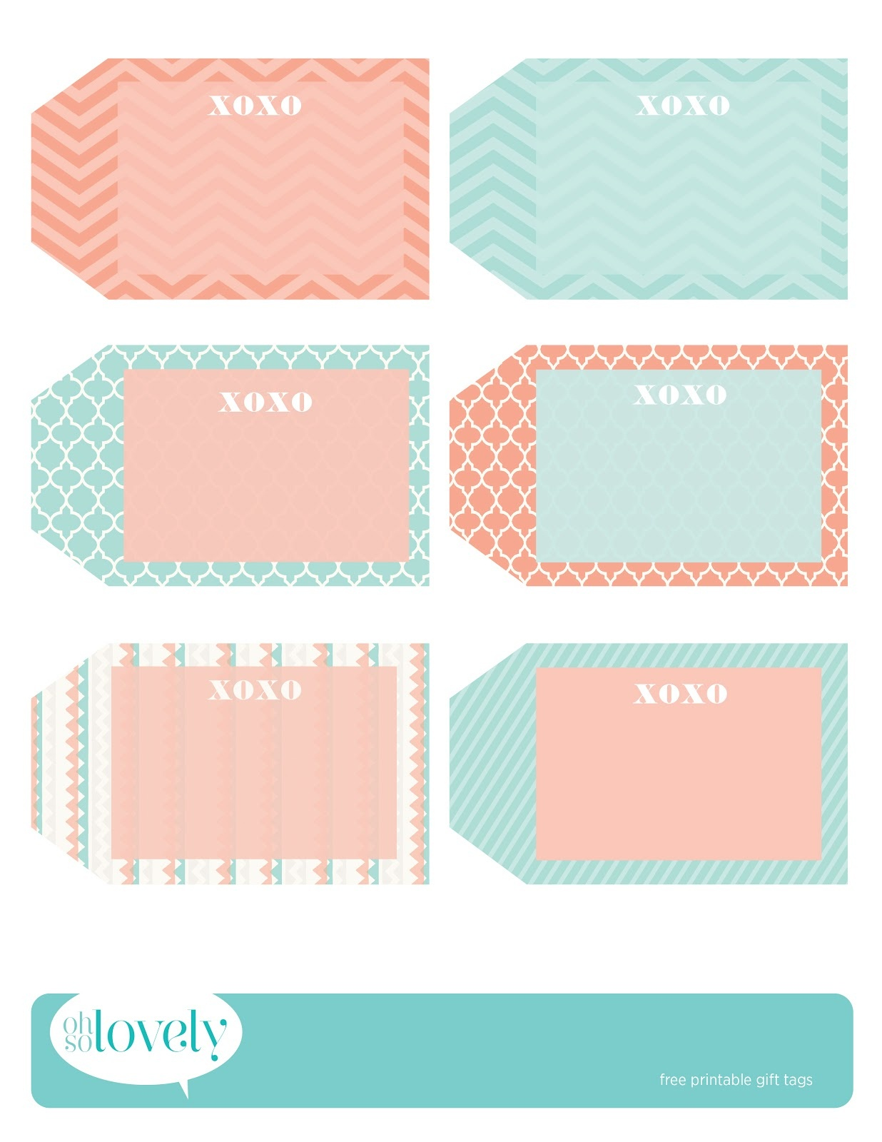 Freebies // Gift Tags - Oh So Lovely Blog - Free Printable To From Gift Tags