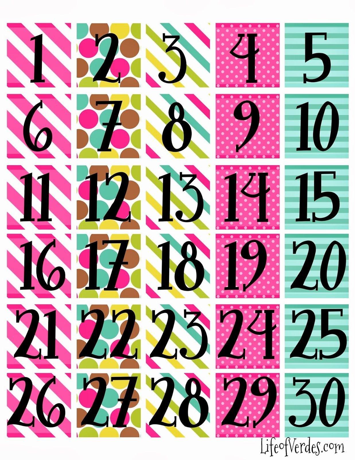 Free+Printable+Calendar+Numbers   Household Info   Calendar Numbers - Free Printable Numbers