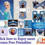 Frozen Party: Free Printables.   Oh My Fiesta! In English   Frozen Happy Birthday Banner Free Printable
