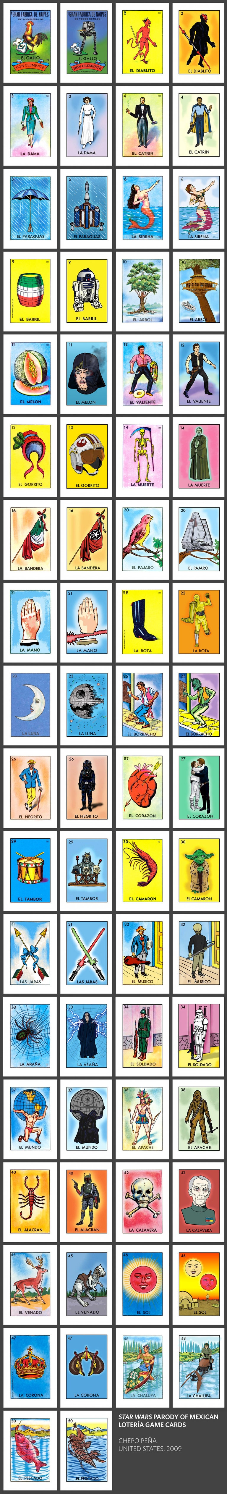 Geek Art: Star Wars Parody Of Mexican Lotería Cards — Geektyrant - Free Printable Loteria Cards