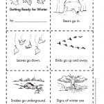 Get Ready For Winter With This Free Minibook Reproducible. | Fall   Free Printable Hibernation Worksheets